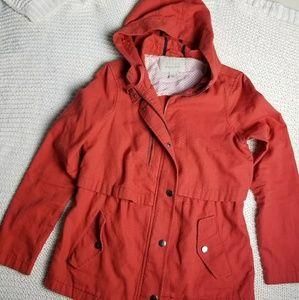 Jackets & Blazers - Hinge nordstrom red cargo utility jacket xs anorak